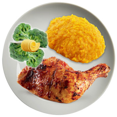 Chicken, Pumpkin and Broccoli