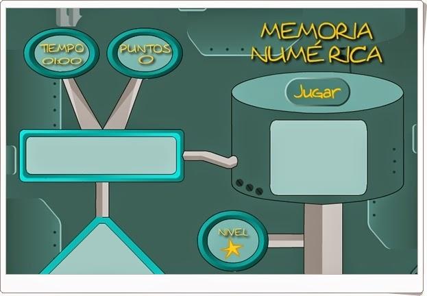 """Memoria numérica"" (Juego de Matemáticas de 1º de Primaria)"