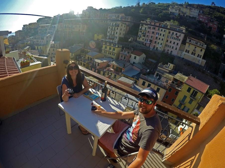 Couple in Riomaggiore Italy
