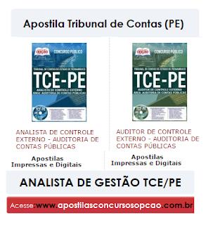 Apostila TCE/PE - Analista de Gestão concurso Tribunal de Contas (PE) 2017