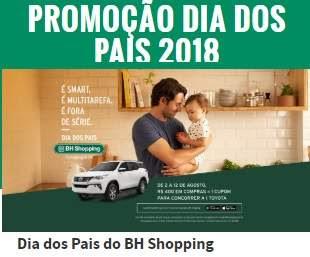 Promoção BH Shopping Dia dos Pais 2018 Concorra 1 Toyota Automóvel
