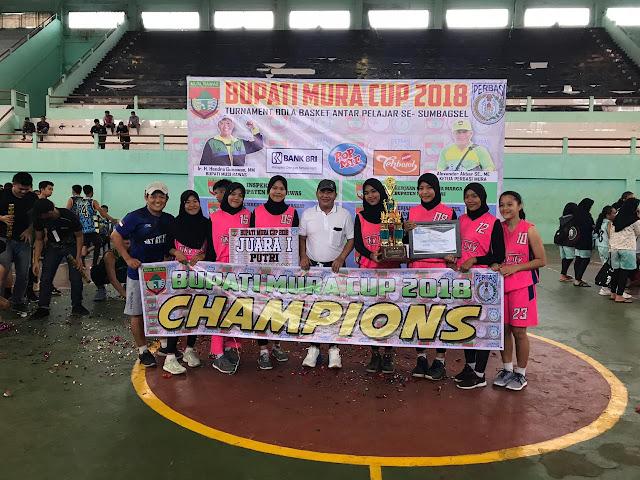 Tekuk 11 Tim se-Sumbagsel, Tim Basket Putri Muba Juara 1 Bupati Mura Cup 2018