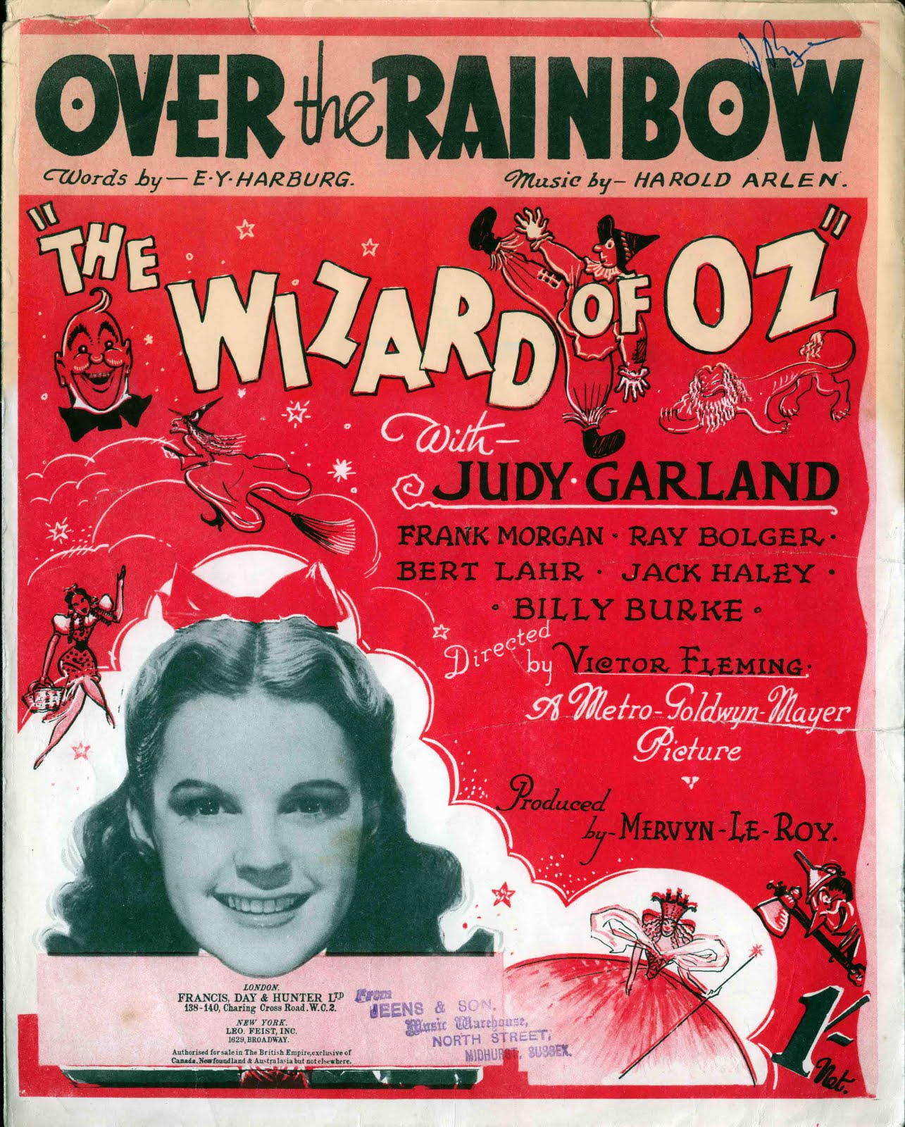 Somewhere Over The Rainbow Easy Piano Sheet Music Free