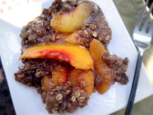 Gluten-Free Goddess Peach Crisp