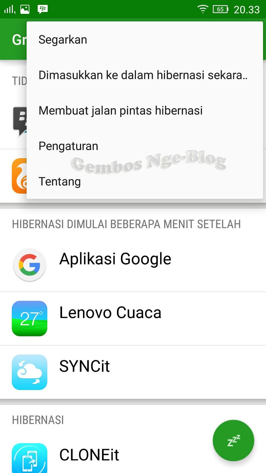 Gembos Nge-Blog: Greenify, membebaskan RAM Android non-ROOT