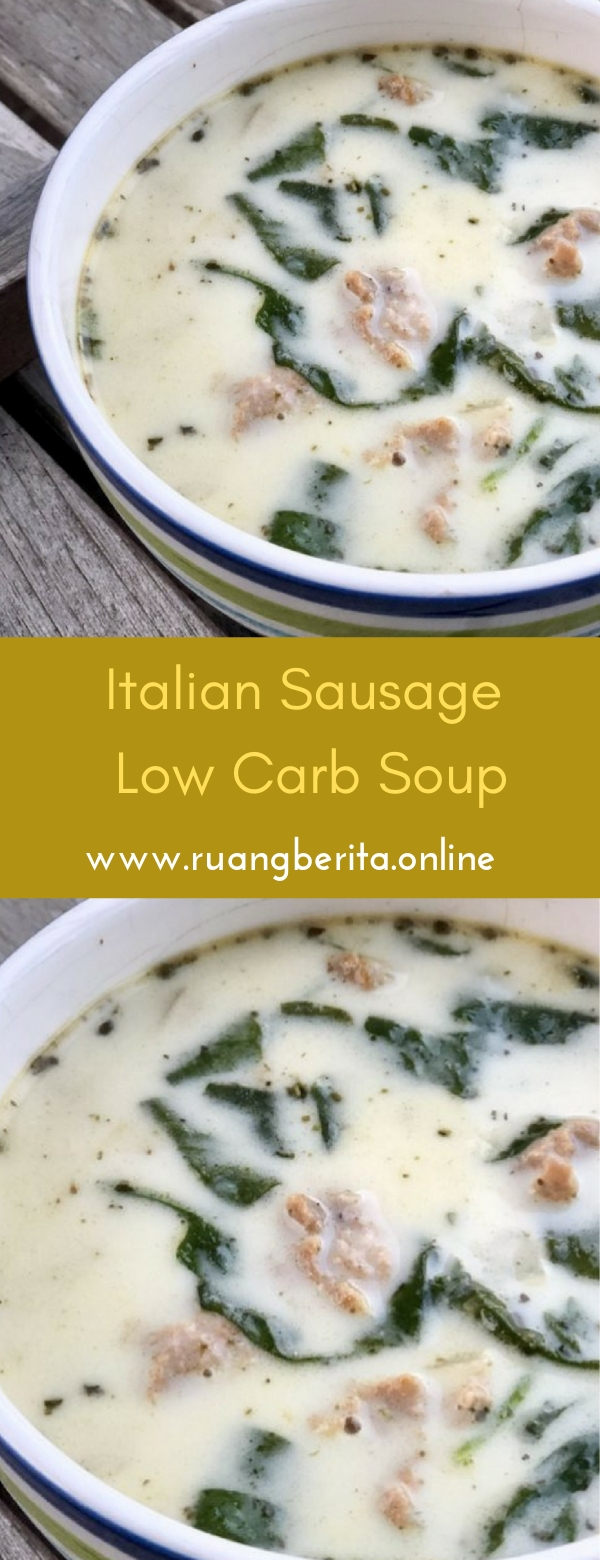 Italian Sausage Low Carb Soup