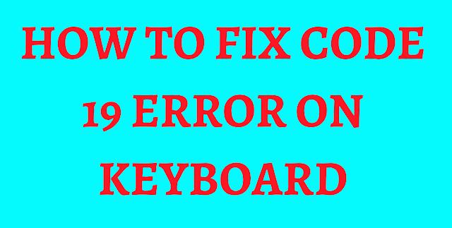 code 19 error