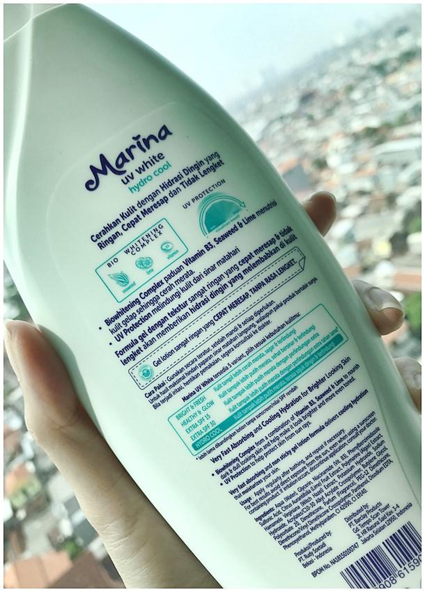 Deskripsi Produk Marina UV White Hydro Cool