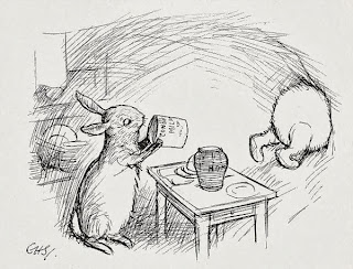 Rabbit and Winnie-the-Pooh illustrated by E. H. Shepard