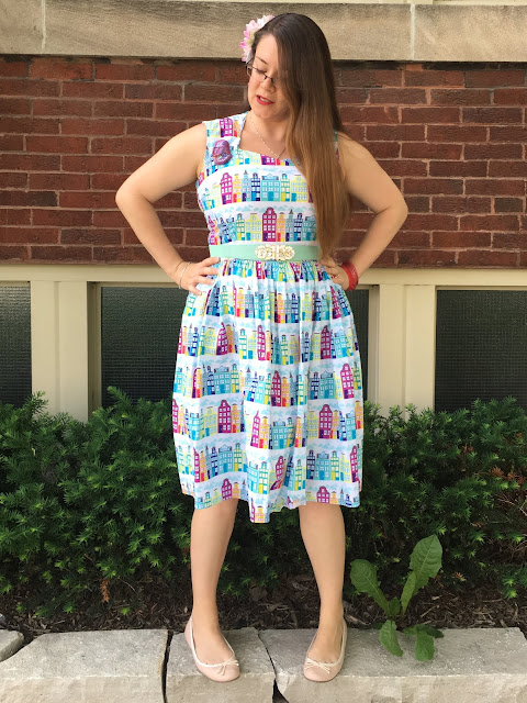 bernie dexter rainbow row dress