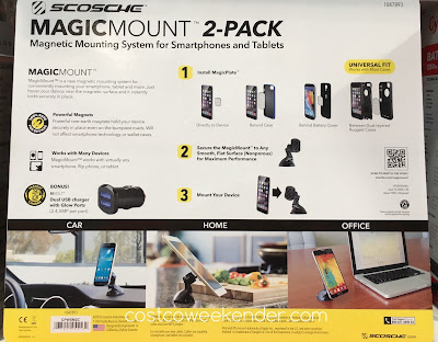 Costco 1047893 - Scosche MagicMount Magnetic Phone Mount: great for car, home, office