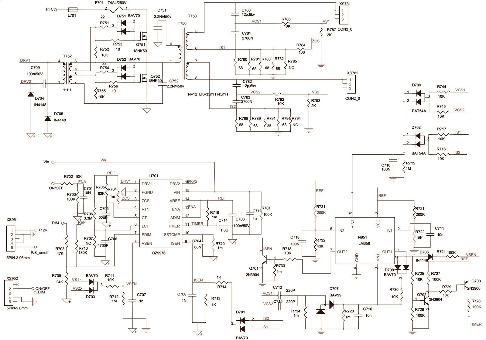 Konka 32eefl Lcd Tv Power Supply Schematic Kip L180114c 1 01