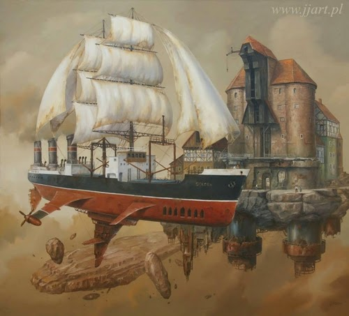 02-Jarosław-Jaśnikowski-Surreal-Paintings-of-Fantastic-Realism-www-designstack-co