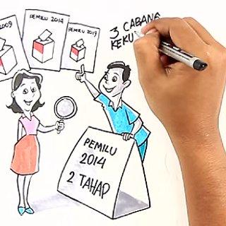 animasi - sosialisasi Pemilu