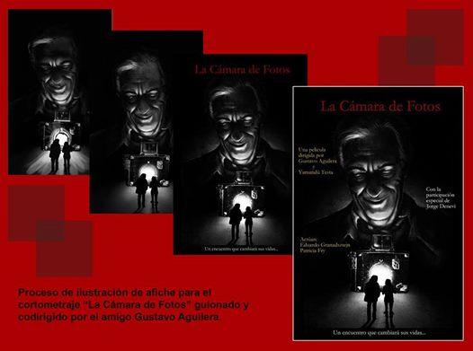 Ilustración para afiche del cortometraje La Cámara de Fotos