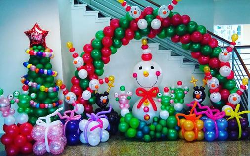 Decoraciones de navidad con globos - Decoraciones para navidad ...