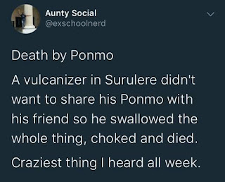 Twitter Stories: Vulcaniser reportedly dies after choking on ponmo he refused to share with a friend