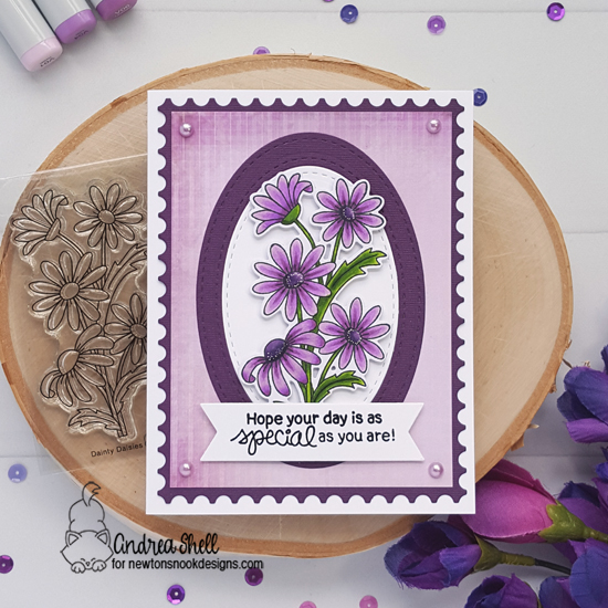 Daisy Card by Andrea Shell | Dainty Daisies Stamp Set by Newton's Nook Designs #newtonsnook #handmade
