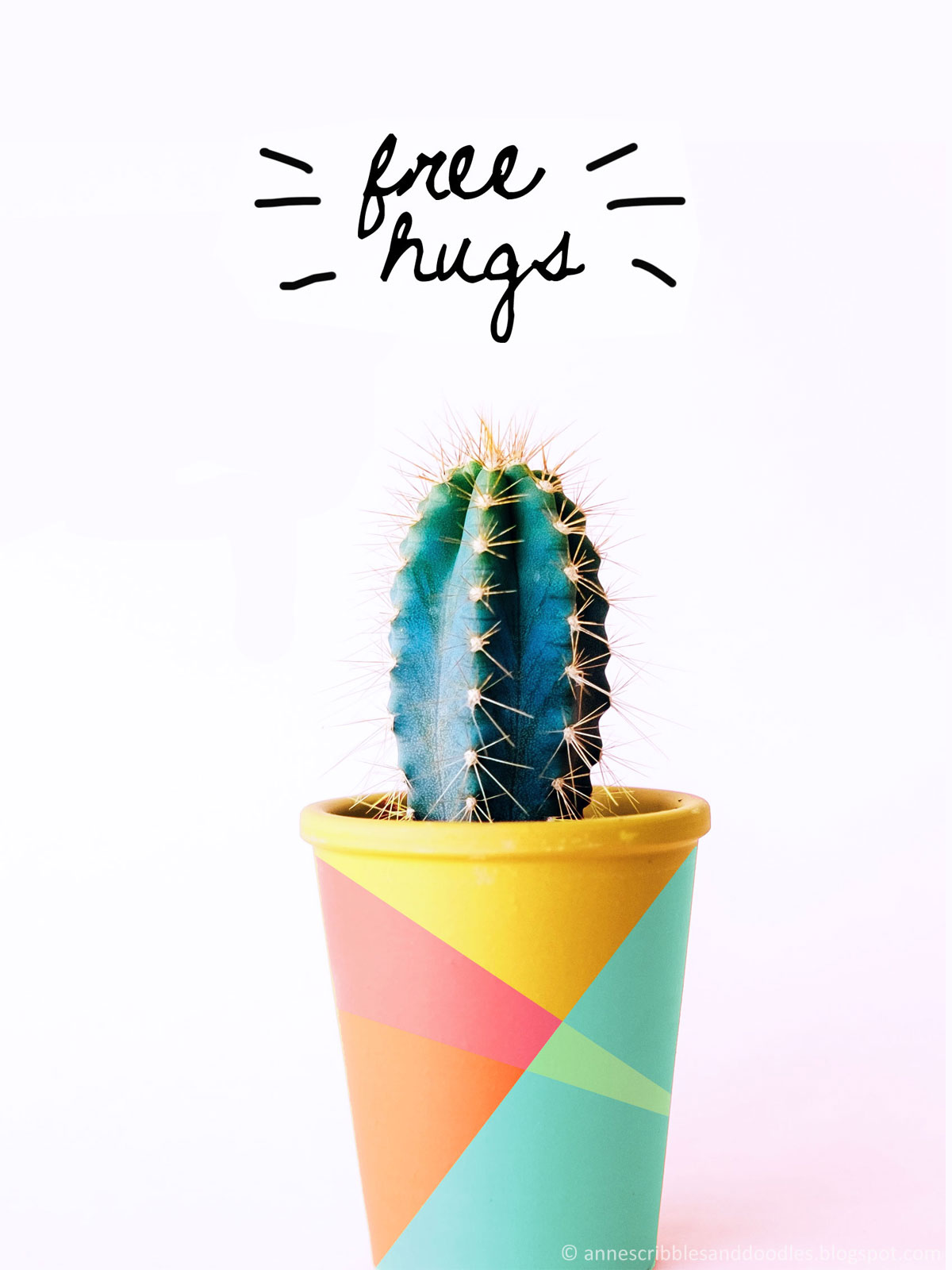 Easy DIY Color Block Pots | Anne's Scribbles and Doodles