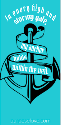 In every high and stormy gale, my anchor holds within the veil.