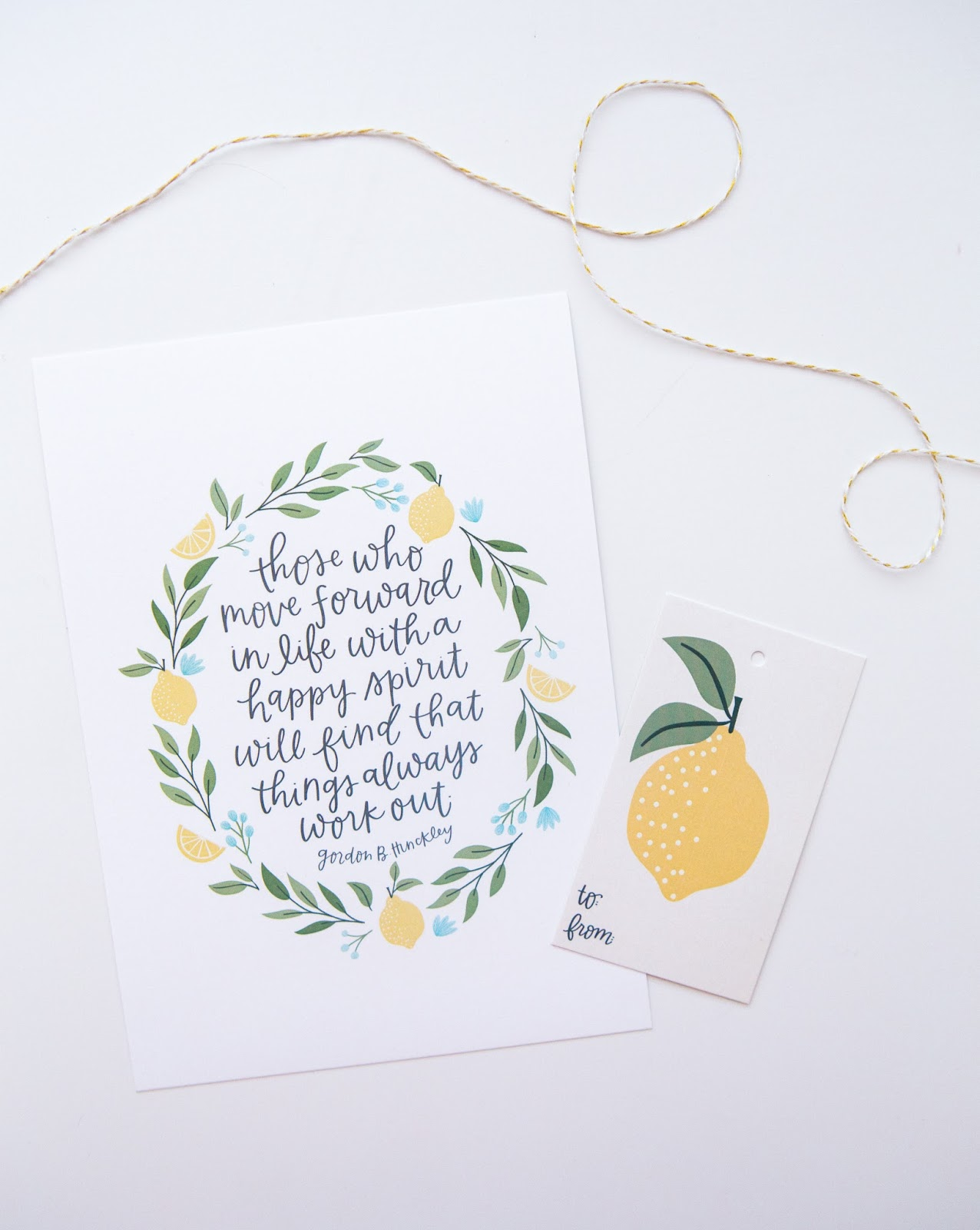 alexa z design lemon gift tag