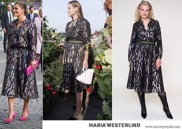 Crown Princess Victoria wore Maria Westerlind Metallic Masterpiece Dress