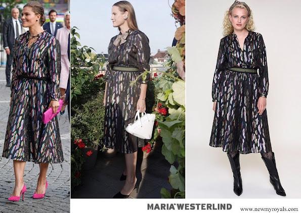 Crown Princess Victoria wore Maria Westerlind Metallic Masterpiece Dress