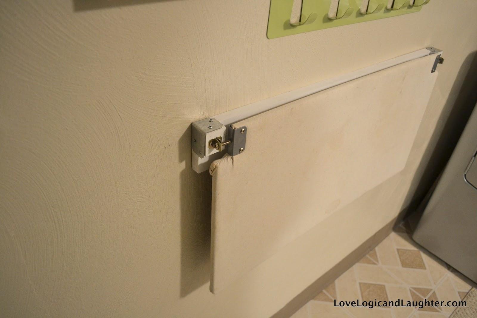 Diy Fold Away Ironing Board Amp Hanging Bins Logic Amp Laughter
