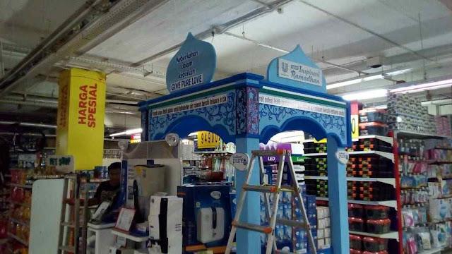 Contoh Dekorasi Stand booth bazar dan expo dari styrofoam