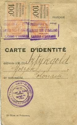 « Carte d'identité d'étranger », années 20 (collection privée)