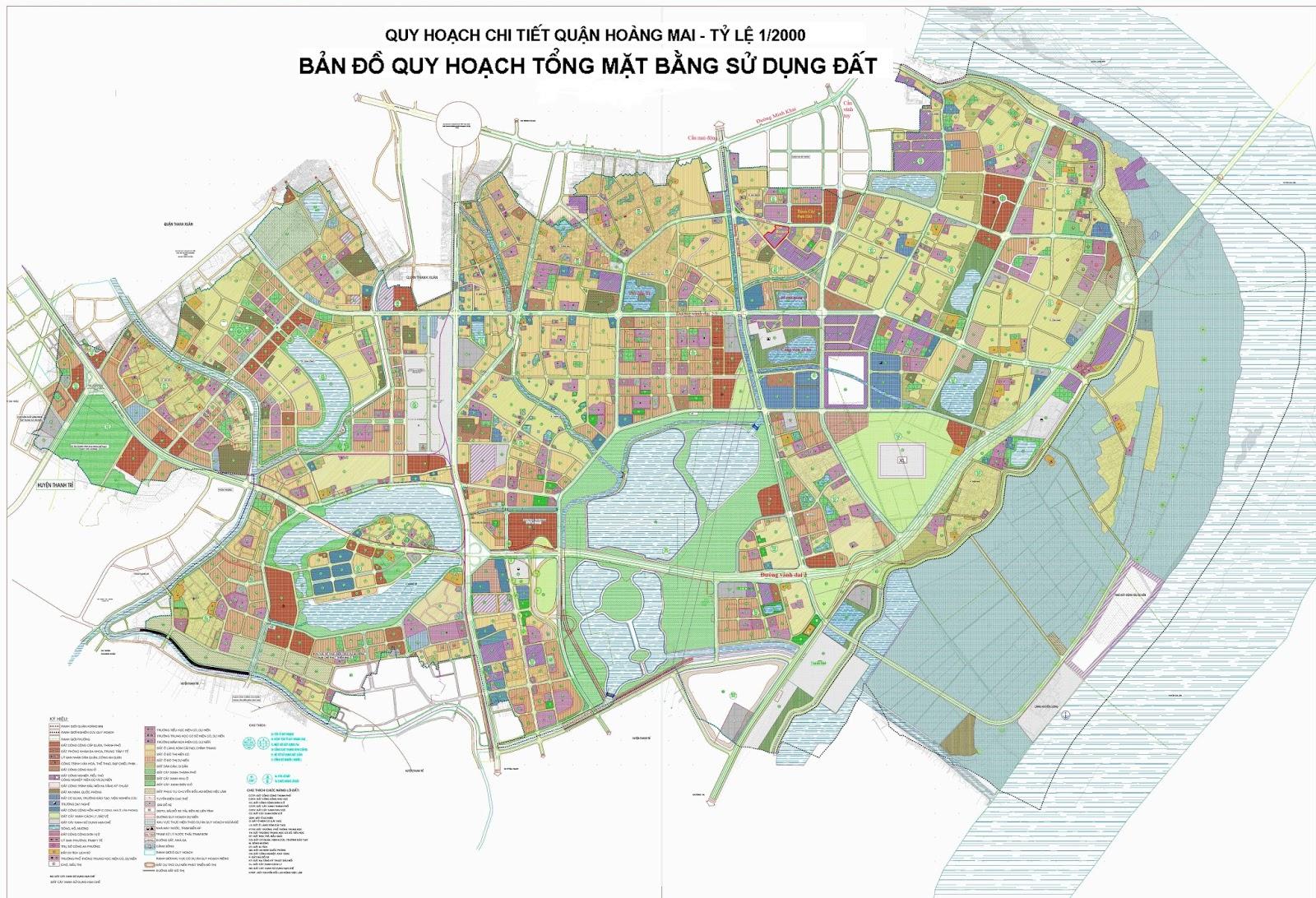 Bản đồ quy hoạch quận Hoàng Mai