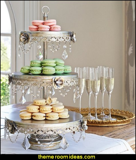 Geneva 3-Tier Silver Cupcake Stand party table supplies - party decor - table decorations - party essentials -  birthday party - baby showers - bridal showers - wedding party - party food - party table decorations