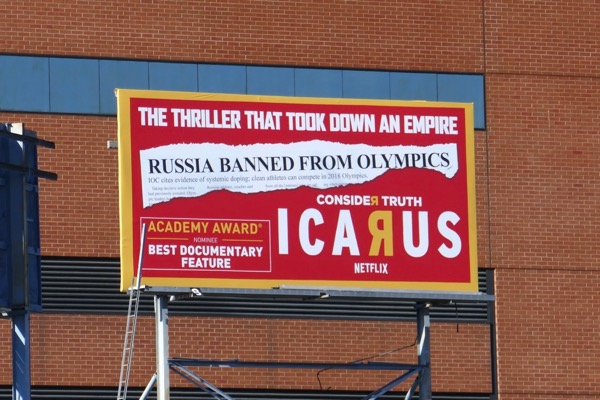 Icarus documentary Oscar nominee billboard