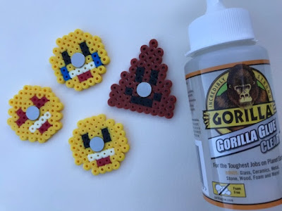 Gorilla Glue for making Hama bead emoji magnets