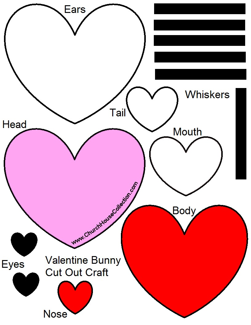 Uncategorized Valentine Heart Template church house collection blog baby valentine bunny valentines rabbit day crafts for preschool kids heart shaped craft