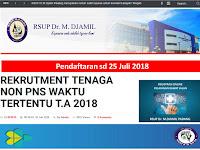 Rekrutmen Non PNS Rumah Sakit Jati (RSUP DR M Djamil) Tutup 25 Juli 2018
