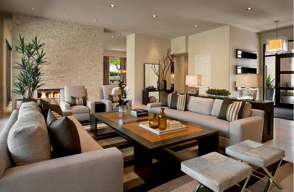 Stylish Modern Living Room Ideas And Colors