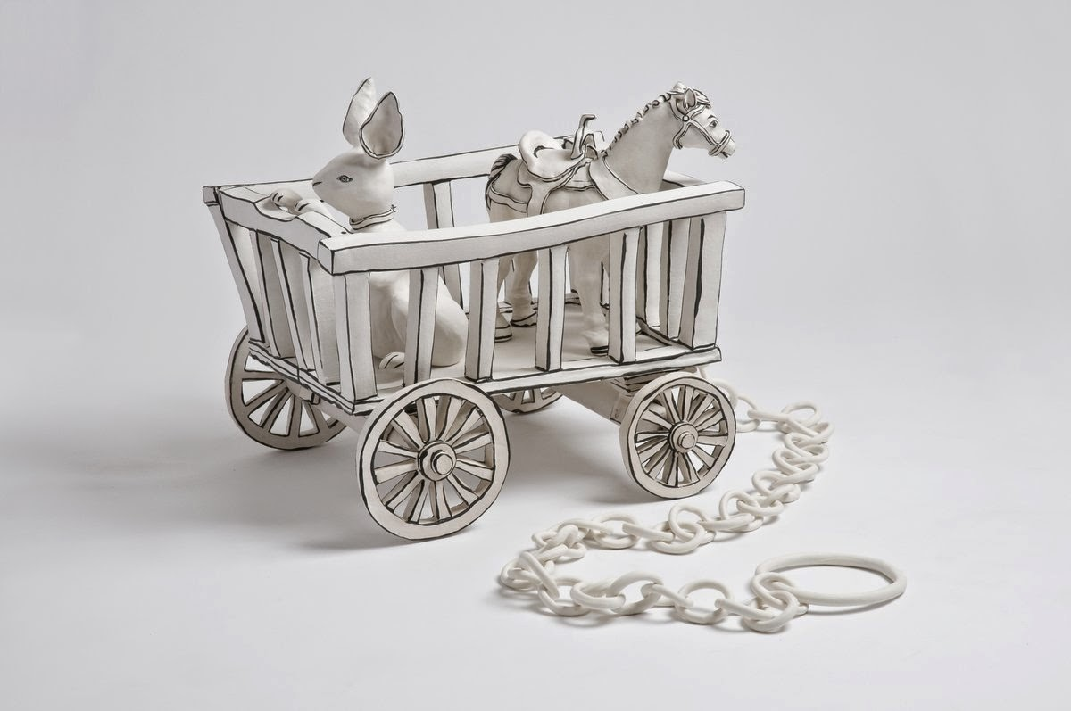 27-Toy-cart-Katharine-Morling-Porcelain-Sculptures-www-designstack-co