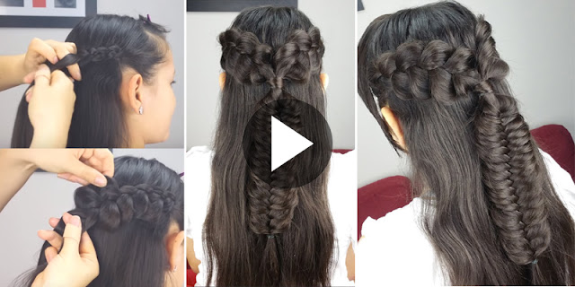Learn - How To Create Simple And Easy Bohemian Hairstyle, See Tutorial