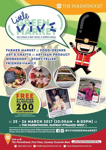 little vive green market, the parenthood sunway pyramid, the parenthood playland, green market,