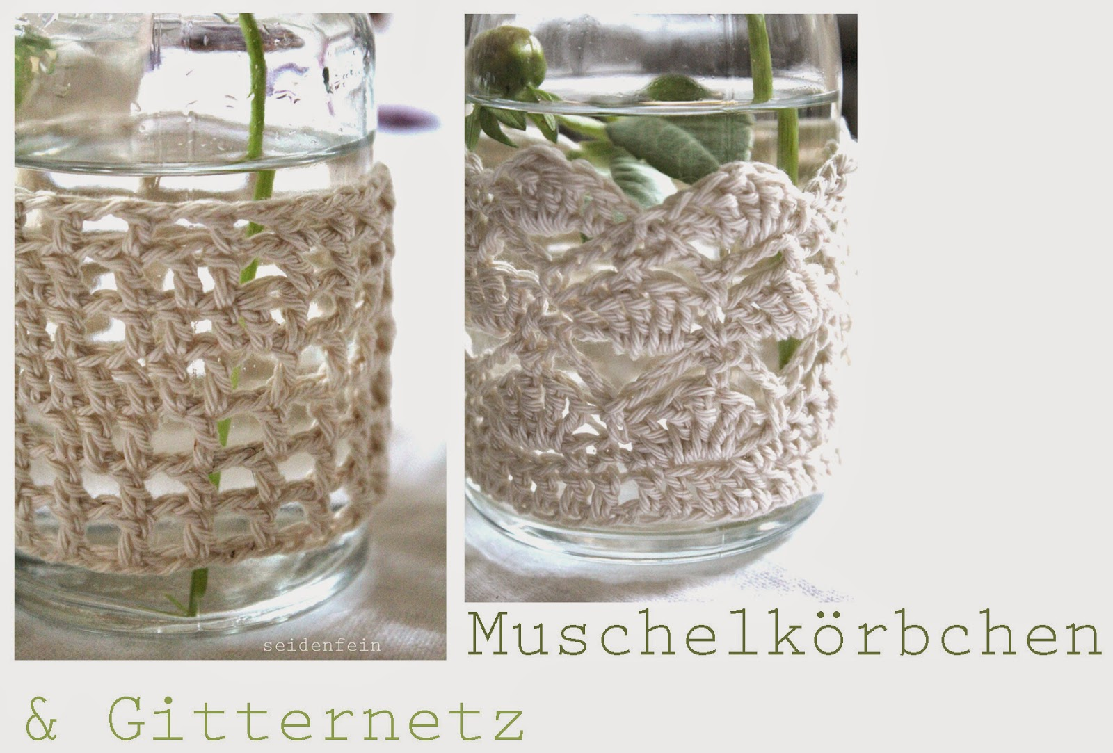 seidenfeins blog vom sch nen landleben zart dahlien in beh keltem glas diy crochet jars. Black Bedroom Furniture Sets. Home Design Ideas