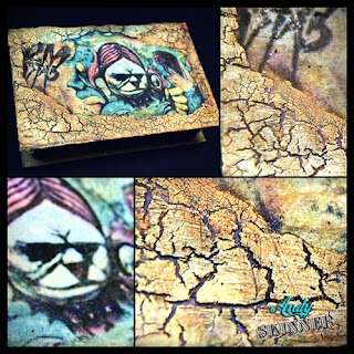 Andy Skinner Altered box book decoart Texture crackle paint