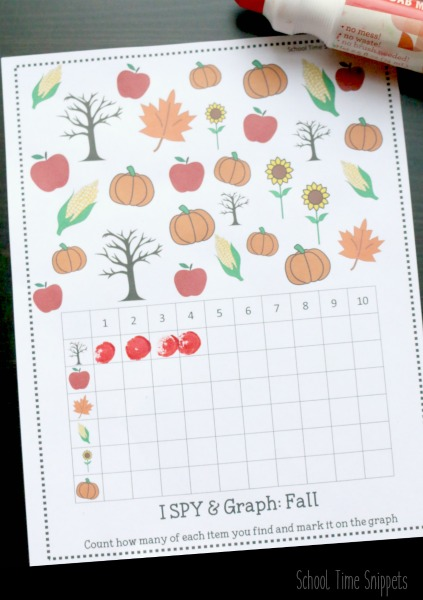 I SPY Fall Printable Game