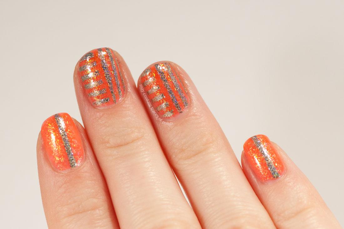 Smitten Polish Ignis Opal Holo Nail Art