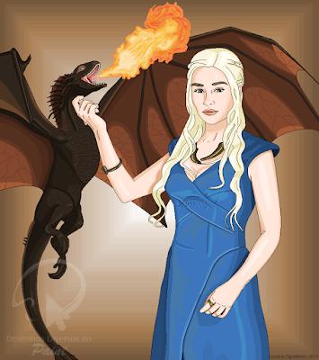 "Desenho de Daenerys Targaryen, de ""Game of Thrones"", feito no Paint"