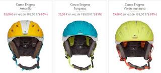cascos de esquiar carrera