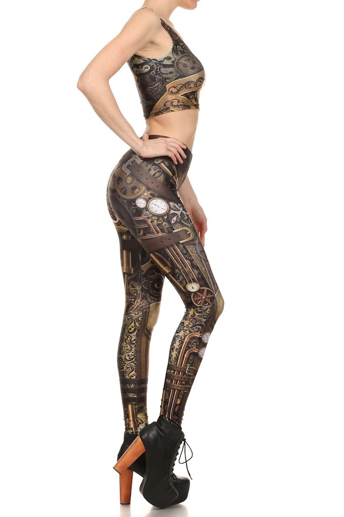 The Amamzing Steampunk Inspired Leggings