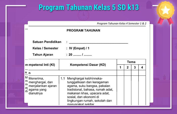 Program Tahunan Sd Kelas 5 Selfiecosmo