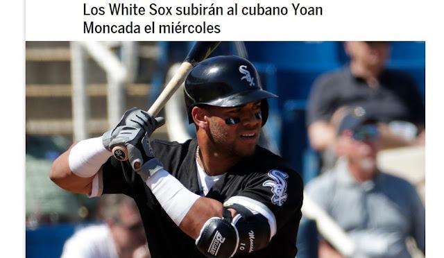 Los White Sox anunciaron la noche del martes que subirán al cubano Yoan Moncada al equipo grande previo el partido del miércoles ante los Dodgers.